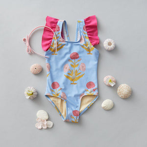 Pink Chicken Liv Suit 2Y blue bell dandelion