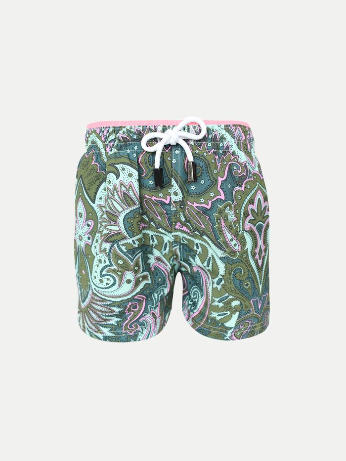 Pink Chicken Boys Swim Trunks Lotus XS