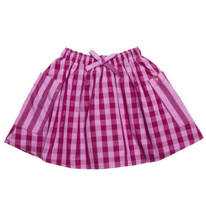 Pink Chicken Luna Reversible Skirt 2y violet/berry gingham/stripe - 17fpc219b