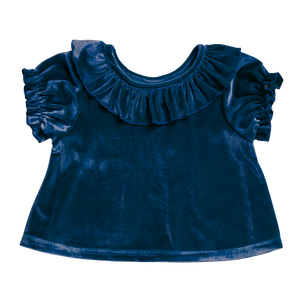 Pink Chicken Mara Top 2Y blue velour