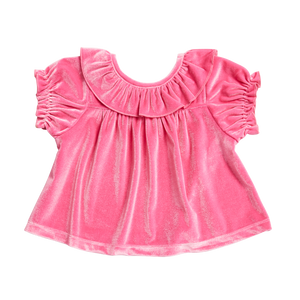 Pink Chicken Mara Top 2Y pink velour