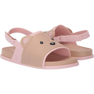 Pink Chicken Mini Melissa Beach Slide Sandal - Pink/Beige Bear 5