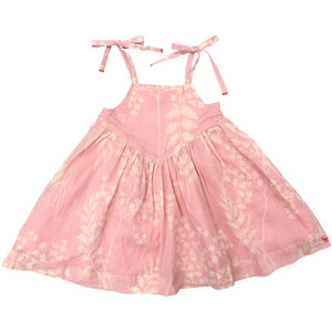 Pink Chicken Monroe Dress 2y crystal rose oversized fern - 19espc322d