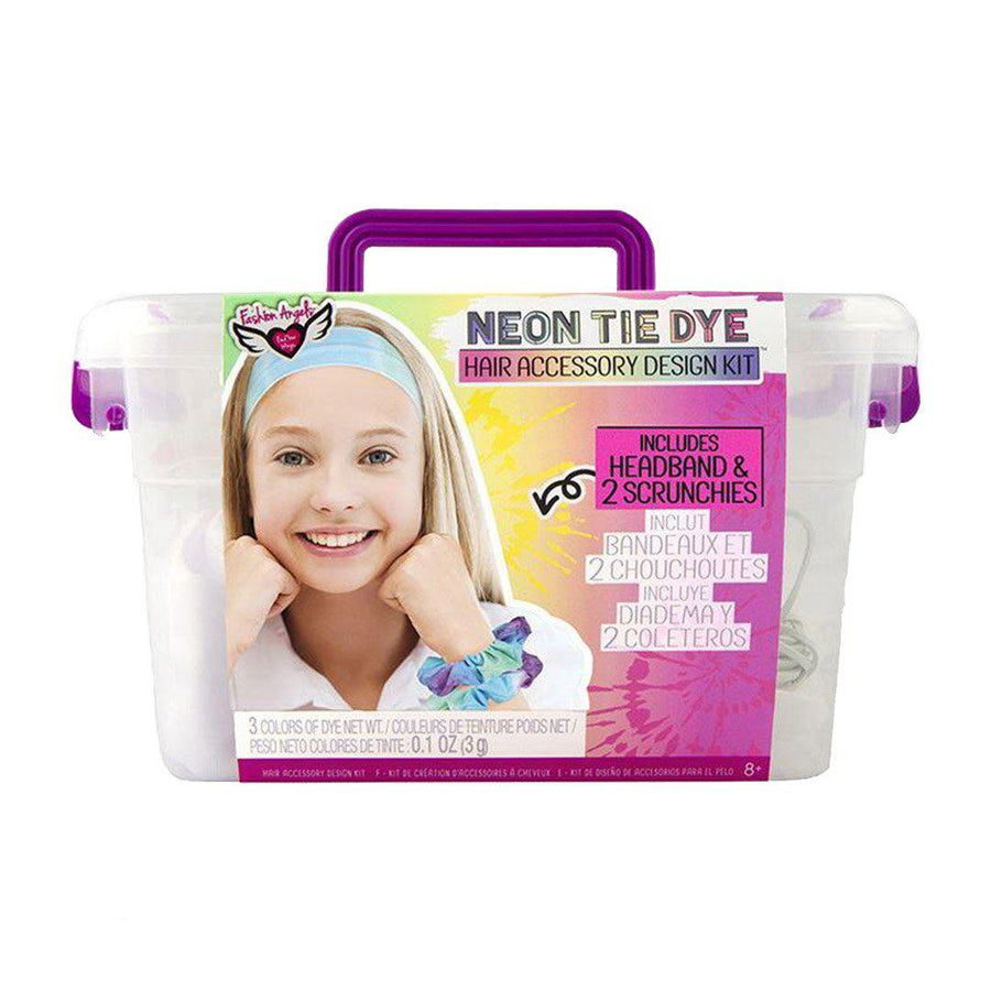 Pink Chicken Neon Tie Dye Hair Accessory Design Keeper Crate