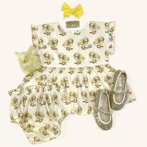 Pink Chicken Niley 2-Piece Set 3/6m baby chicks