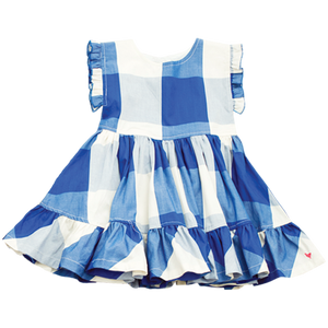 Pink Chicken Niley Dress 2y turkish sea gingham