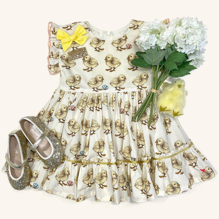 Pink Chicken Niley Dress 2y baby chicks