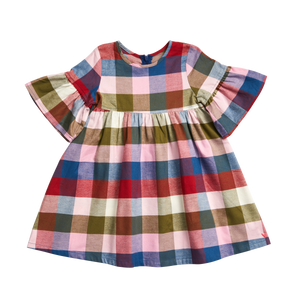 Pink Chicken Ophelia Dress 2Y multi gingham