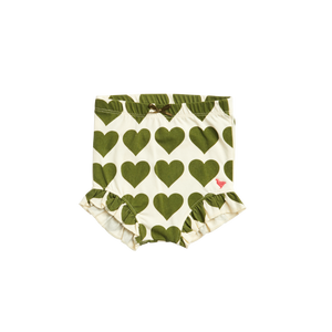 Pink Chicken Organic Diaper Cover XS/S capulet olive hearts
