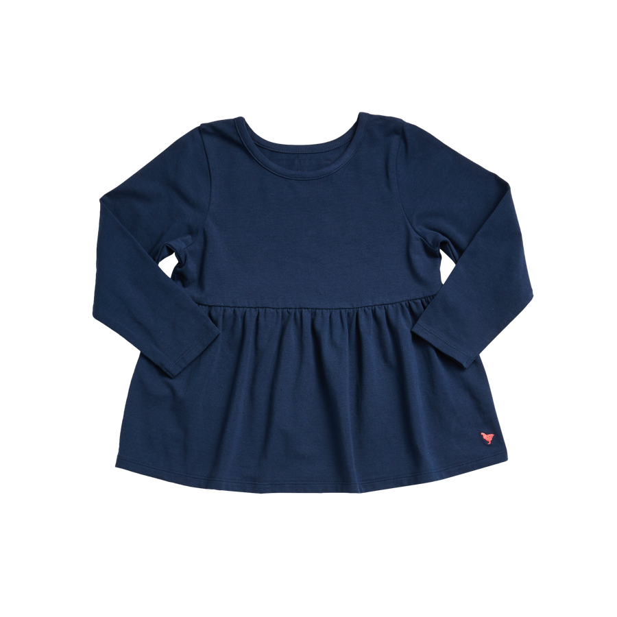 Pink Chicken Organic Bette Top 2Y dress blues