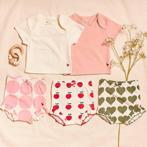 Pink Chicken Organic Baby Tee 0/3M mellow rose