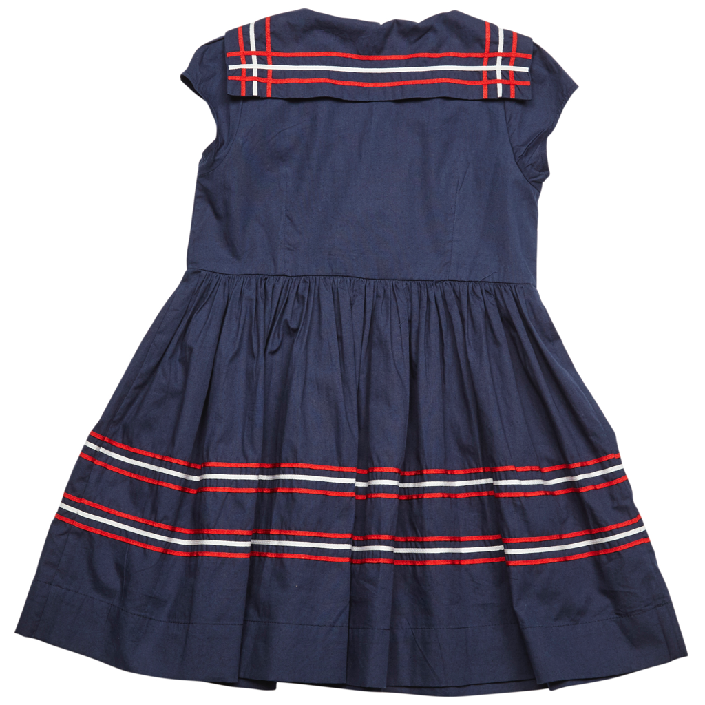 Pink Chicken Sally Sailor Dress 2y dress blues w/tomato and white - 18supc264a
