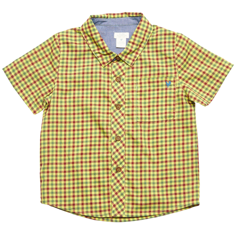 Pink Chicken Jack Shirt 2y yellow multi plaid - 18sbr100b