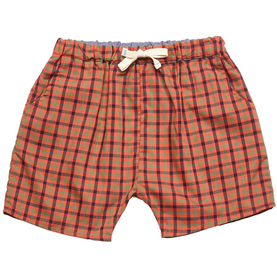 Pink Chicken Liam Long Short 2y red multi plaid - 18sbr123a