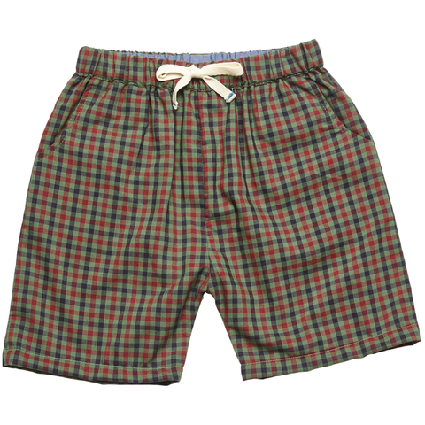 Pink Chicken Liam Long Short 2y green multi plaid - 18sbr123b