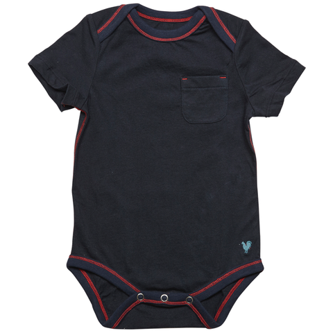 Pink Chicken Oliver Solid Bodysuit 3/6m dress blues - 18sbrn210e