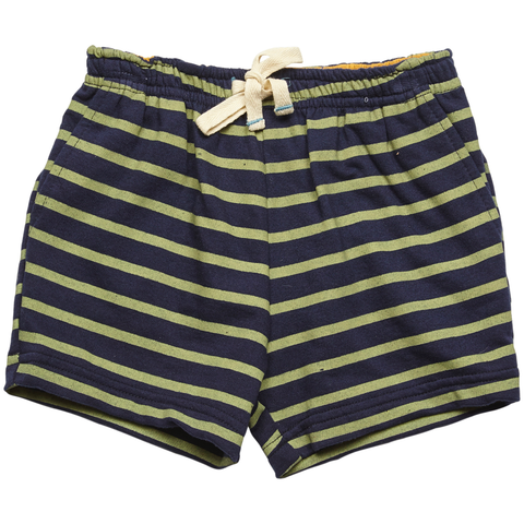 Pink Chicken Sam Short 3/6m oil green/dress blues stripe - 18sbrn213b