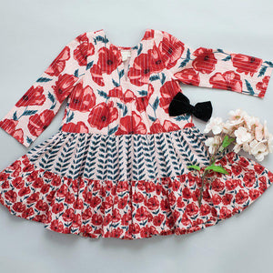 Pink Chicken Penelope Dress 2y crystal rose floral - 19ffpc130a