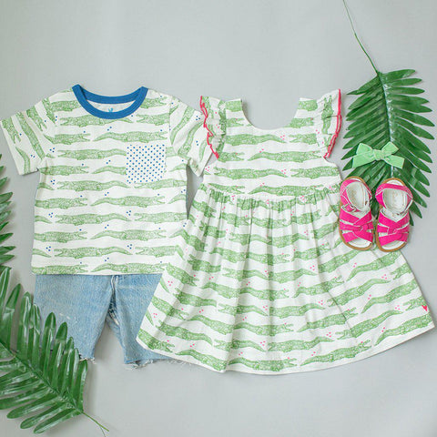 Pink Chicken Liv Dress 2y crocodile - 19spc195