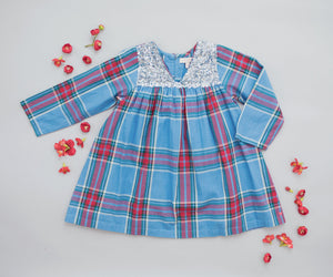 Pink Chicken Courtney Dress 2y riviera tartan - 19fpc172a