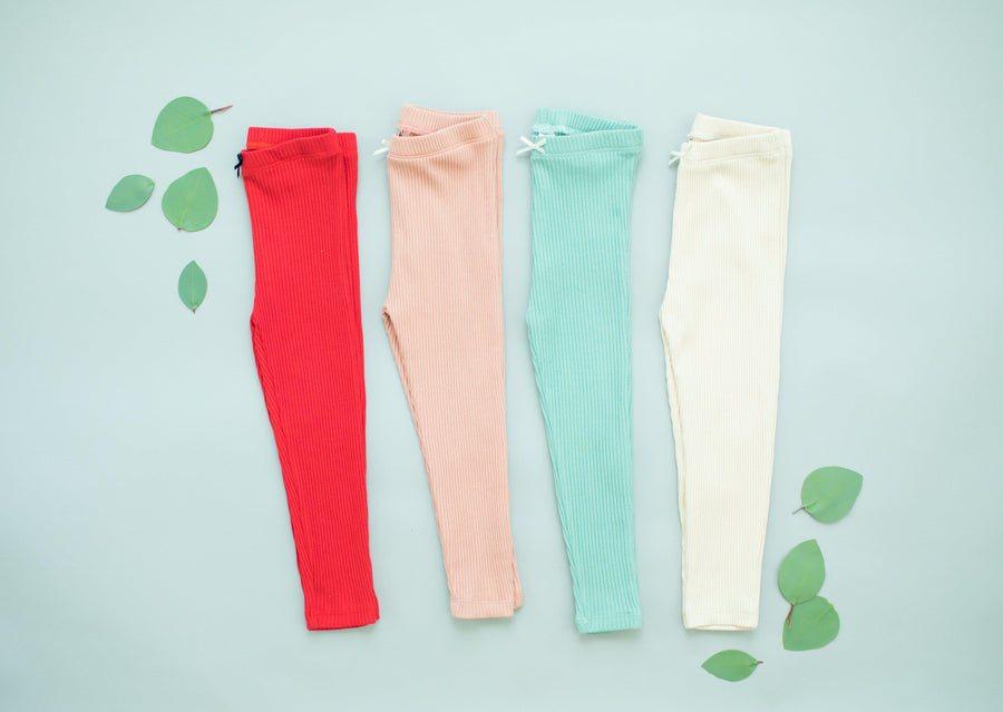 Pink Chicken Rib Legging 2y red - 19fpc503g