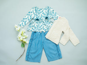 Pink Chicken Paris Pant 2y chambray - 19fpc349a
