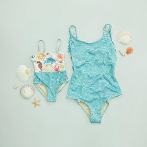 Pink Chicken Claire Suit XS riviera waves