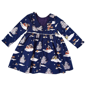 Pink Chicken Princess Diana Dress 2y dress blues winter wonderland