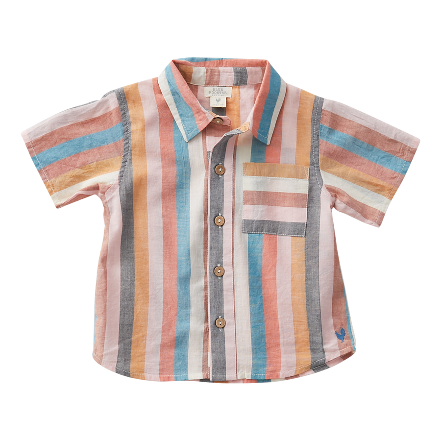 Pink Chicken Jack Shirt 2Y multi stripe