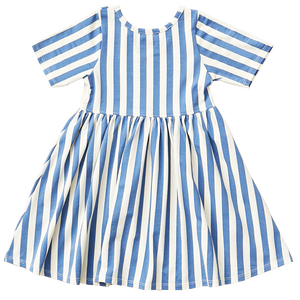 Pink Chicken Organic Steph Dress 2Y riviera/antique white stripe