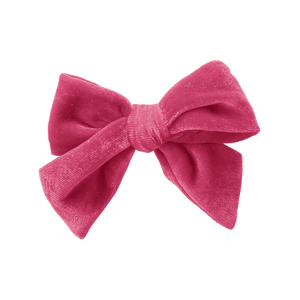 Pink Chicken Bow - Pink Velour OS pink velour