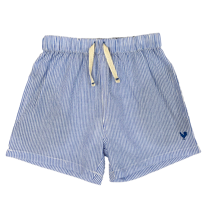 Pink Chicken Camp Short 2y blue seersucker