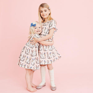 Pink Chicken Princess Diana Dress 2y easter bunnies