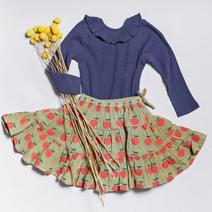 Pink Chicken Allie Skirt 2Y olive green apple