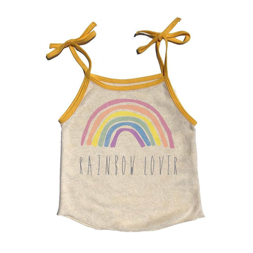 Rainbow Lover Terry Tie Tank