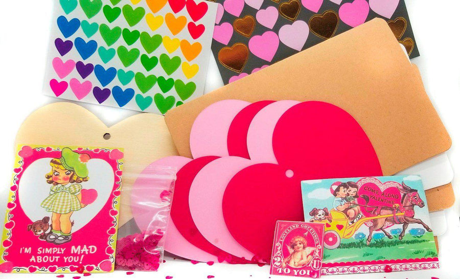 Pink Chicken Valentine Stationary Kit