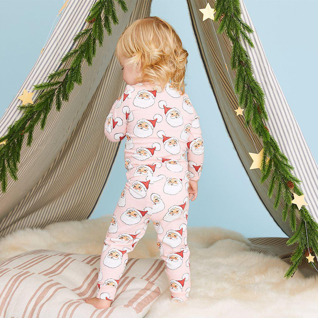 View larger version of Pink Chicken Baby Holiday PJ Set 3/6m cloud pink santa - 19hpcb509a