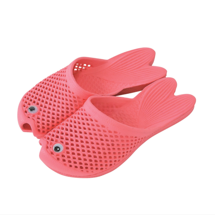 Pink Chicken Fish Shoes ONE SIZE (11.5 - 1) Pink