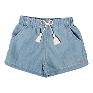 Pink Chicken Camp Short 2Y chambray
