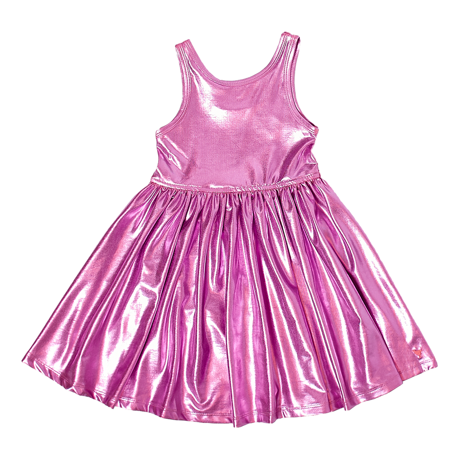 Pink Chicken Liza Lame Dress 2Y pink