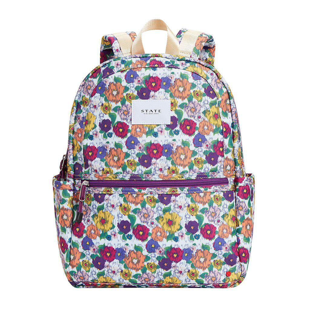 Pink Chicken STATE Kane Backpack White/Multicolor Ikat