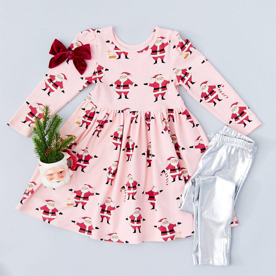 Pink Chicken Steph Dress 2y strawberry cream santas