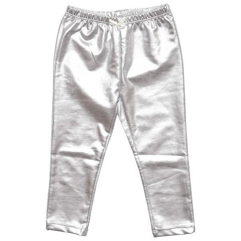 Pink Chicken Baby Lame Legging 3/6m silver - 17fpcn831m