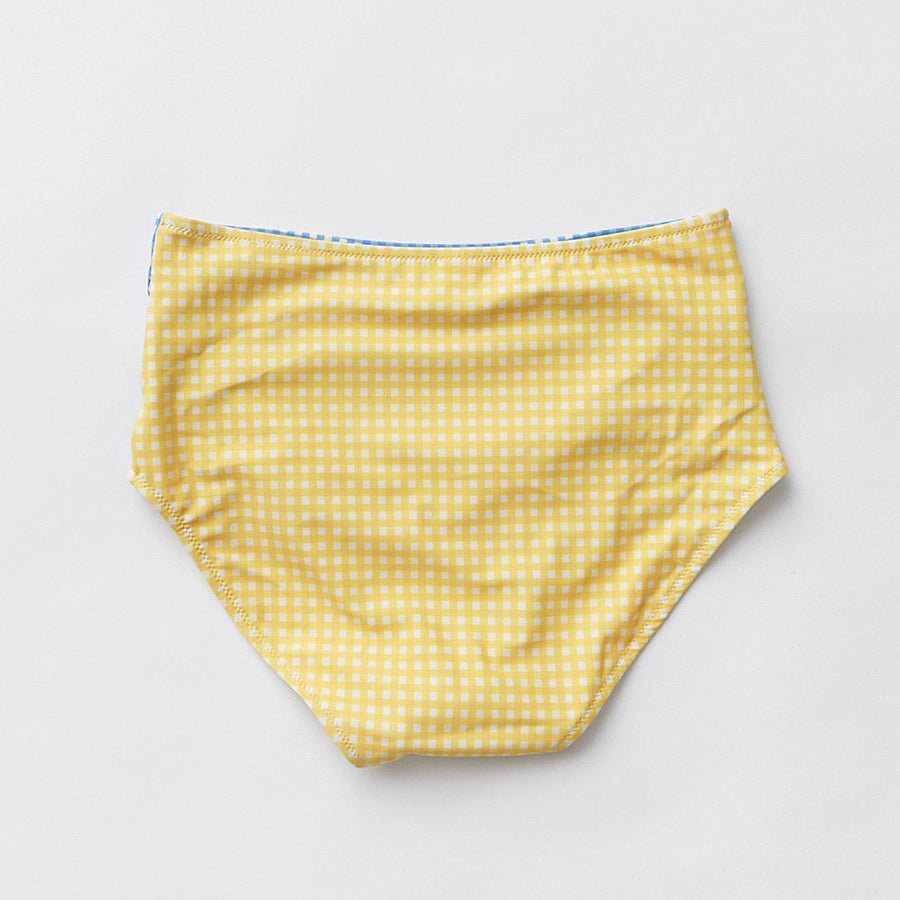 Pink Chicken Courtney Tankini Bottom XS navy/yolk yellow mini gingham