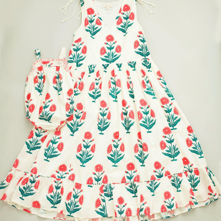 Pink Chicken Laurel Dress XS gardenia dandelion