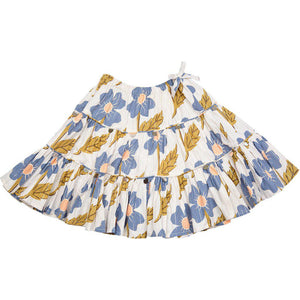 Pink Chicken Allie Skirt 2y vapor blue diagonal flower - 19spc214b