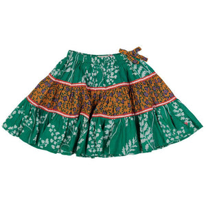 Pink Chicken Allie Skirt 2y bosphorous green fern floral - 18fpc214b