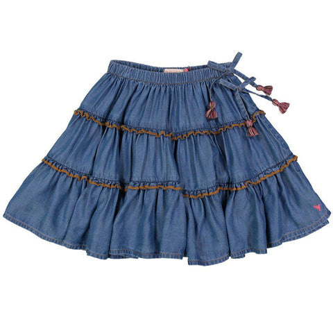 Pink Chicken Allie Skirt 2y chambray - 18fpc214a
