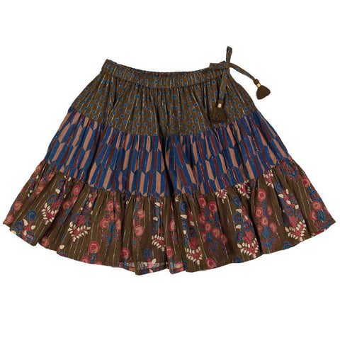 Pink Chicken Allie Skirt 2y dark olive - 18ffpc214d