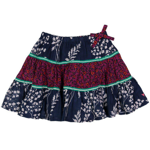Pink Chicken Allie Skirt 2y dress blues fern floral - 18fpc214c